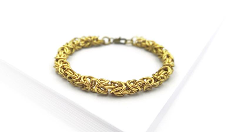 Je fabrique mon bracelet Byzantin
