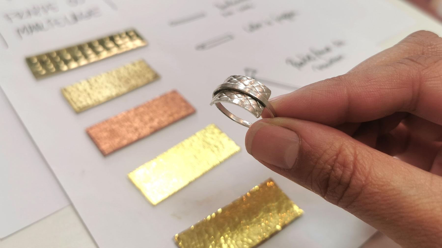 Stage textures sur métal
